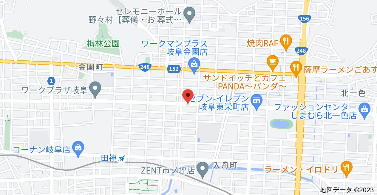 〒500-8144 岐阜県岐阜市東栄町3丁目29の地図
