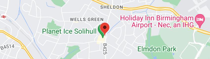 Map of Rileys Sports Bar Solihull