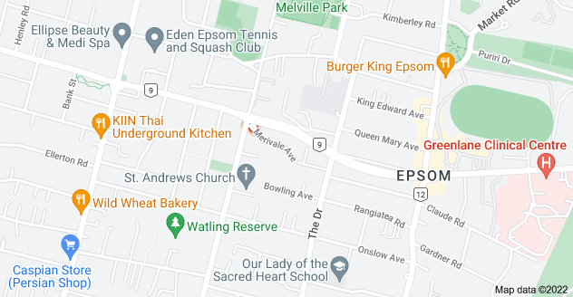 Location of Merivale Avenue
