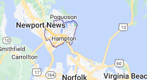 Map of Hampton, Virginia