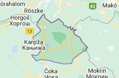 Location of Novi Kneževac Municipality