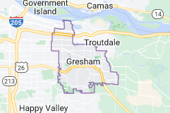 Map of Gresham, Oregon