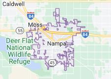 Map of Nampa, Idaho