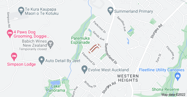 Location of Apsley Rise