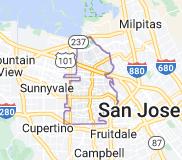 Map of Santa Clara, California