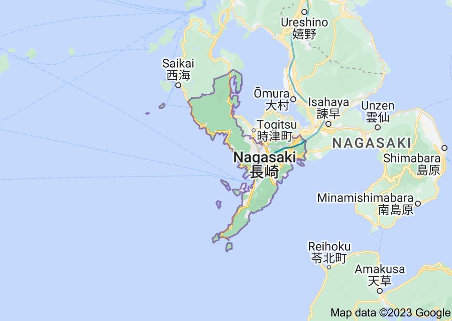 Location of Nagasaki