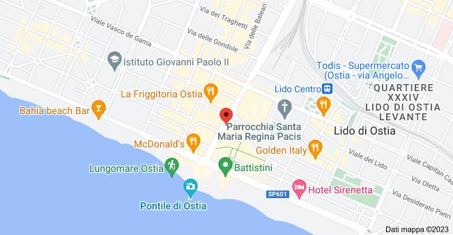Mappa di: Viale della Marina, 9, 00122 Lido di Ostia RM