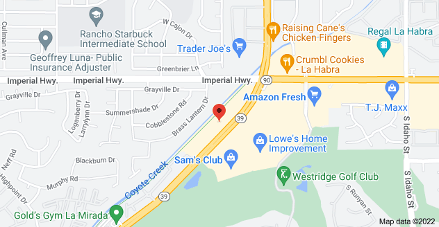 Map of 1301 S Beach Blvd, La Habra, CA 90631