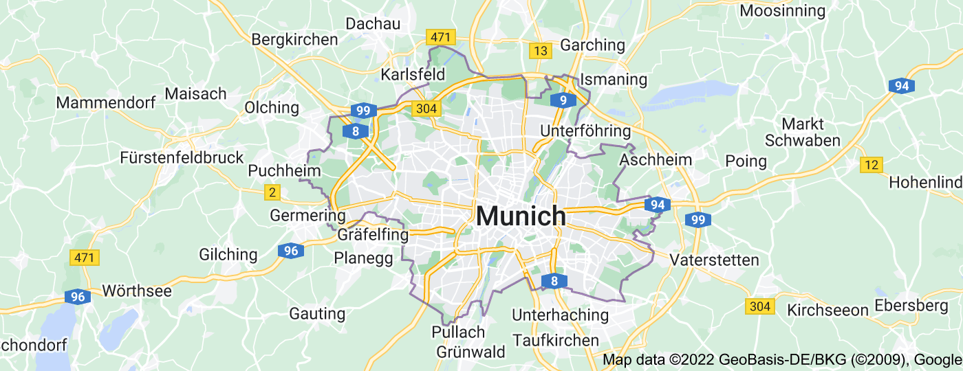 Location of Munich