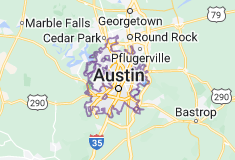 Map of Austin, Texas
