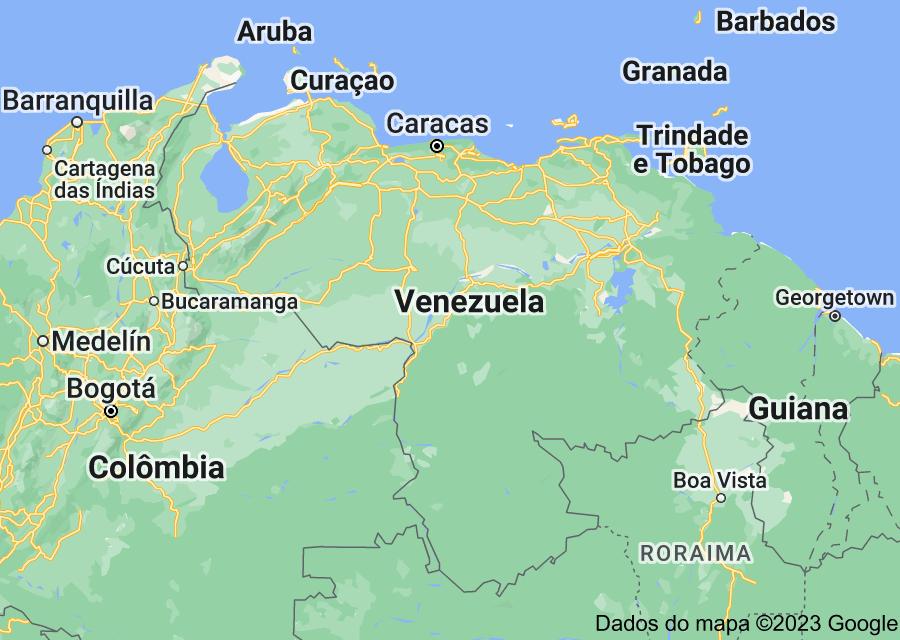 Location of Venezuela