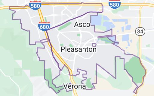 Map of Pleasanton, California