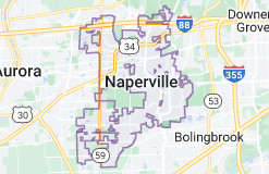 Map of Naperville