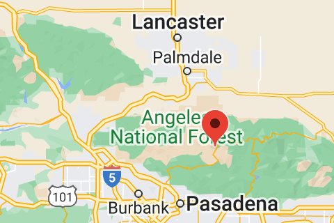 Map of Angeles National Forest