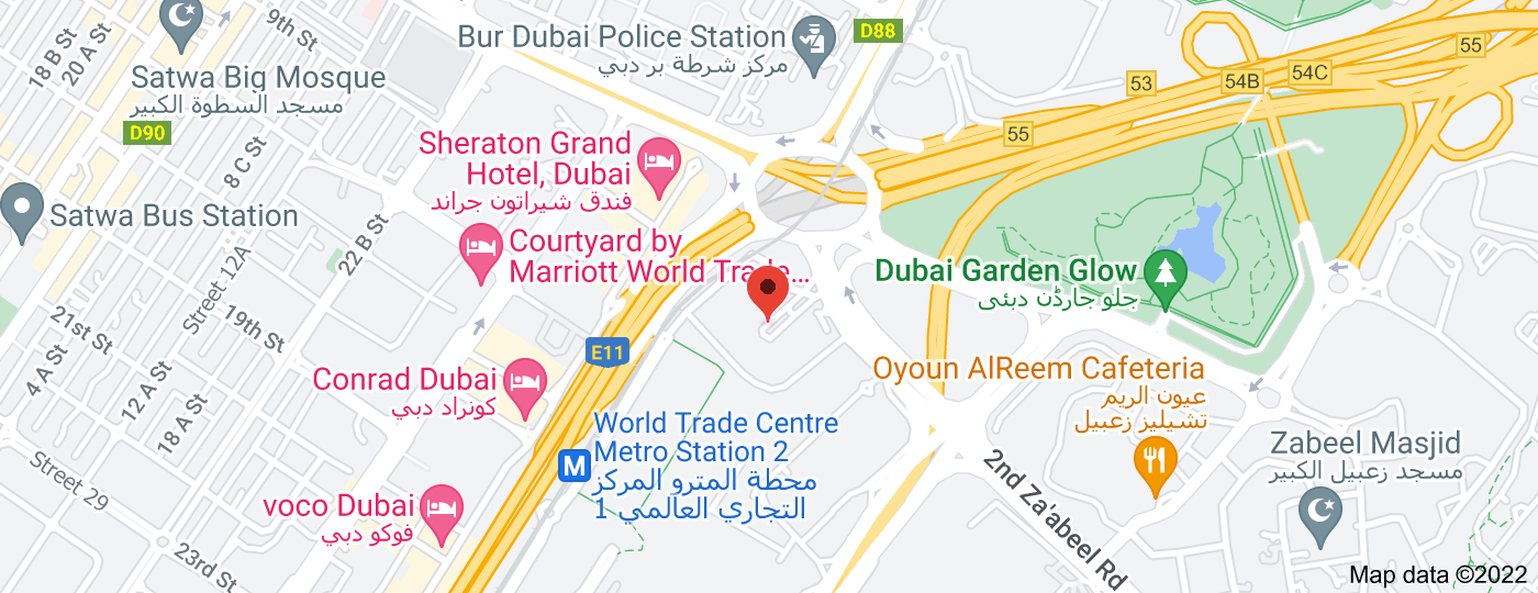 Location of Dubai World Trade Centre