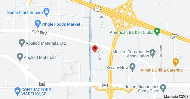 Map of 3080 Olcott St D103, Santa Clara, CA 95054, USA