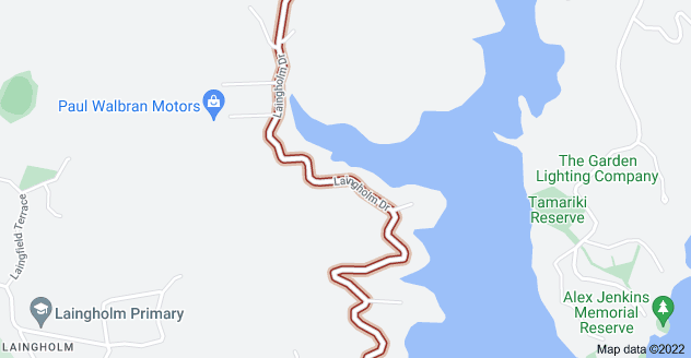 Location of Laingholm Drive