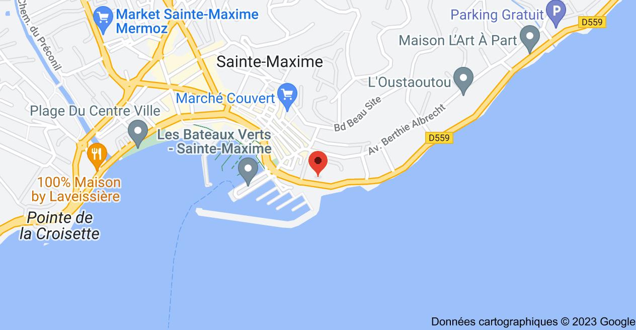 16 Avenue du Général Leclerc, 83120 Sainte-Maxime: carte