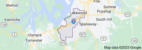 Map of Clover Park School District