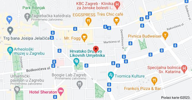 Ul. Antuna Bauera 21, 10000, Zagreb, karta