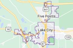 Map of Lake City, Florida