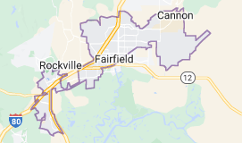 Map of Fairfield, California