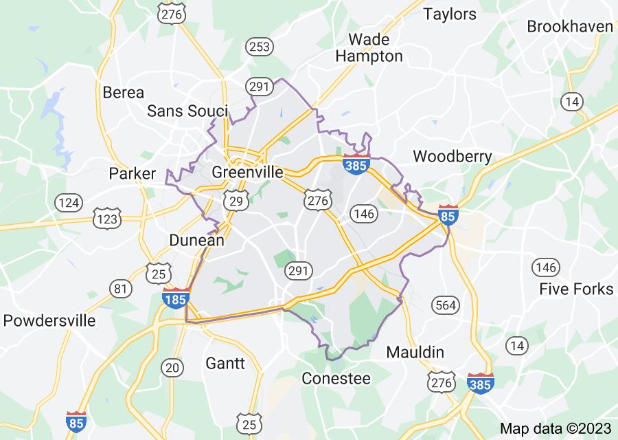 Location of Greenville