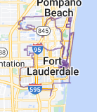 Map of Fort Lauderdale
