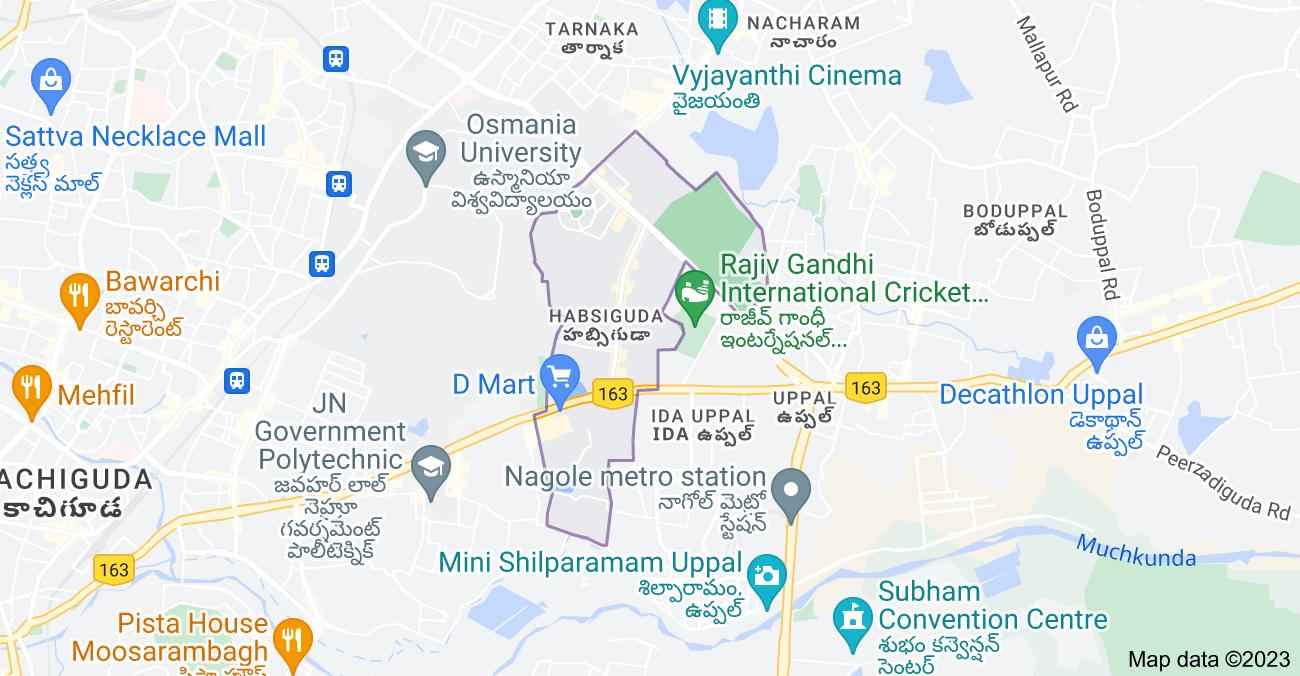 Map of Habsiguda, Hyderabad, Telangana, India