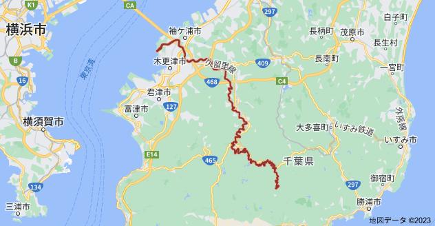 千葉県 小櫃川の地図