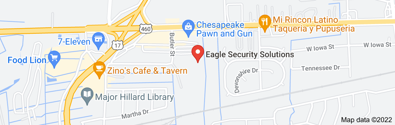 Map of private investigator chesapeake virginia