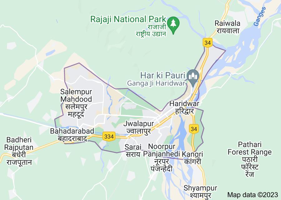Location of Haridwar
