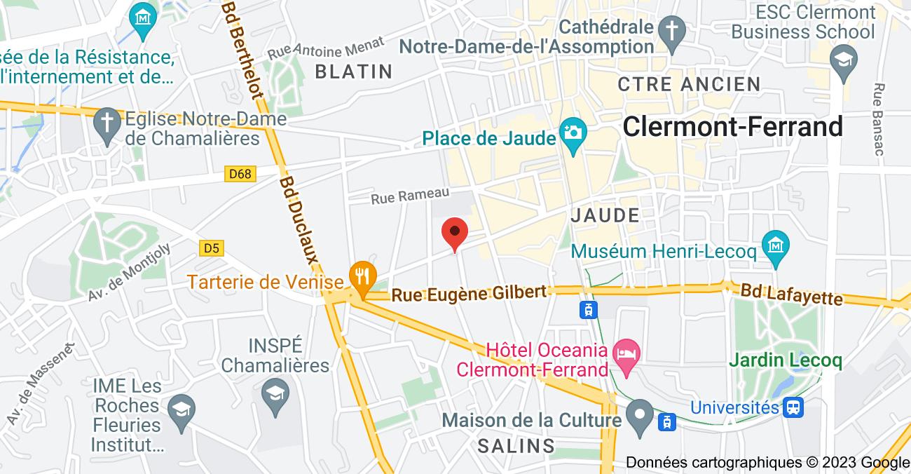 11 Rue Maurice Weiss, 63000 Clermont-Ferrand: carte