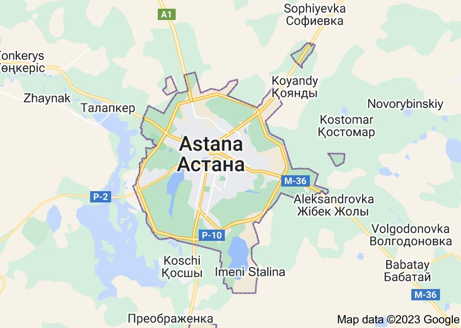 Location of Astana