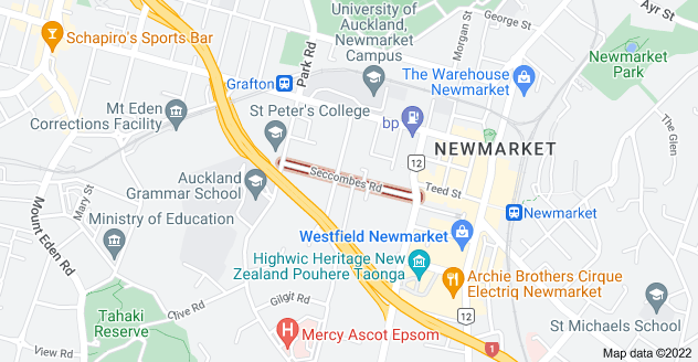 Location of Seccombes Road
