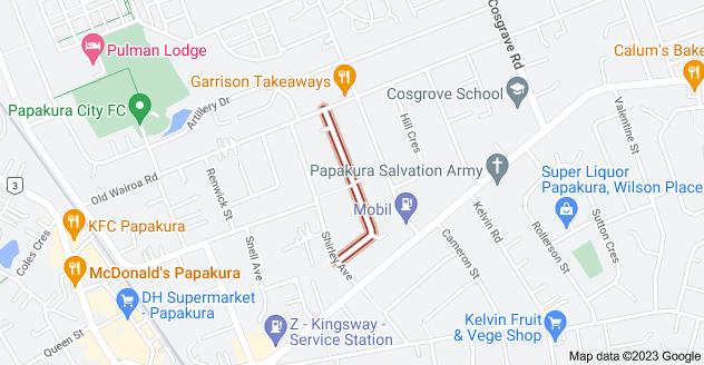 Location of Alma Crescent