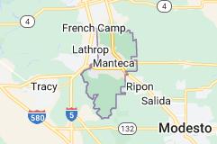 Map of Manteca, California