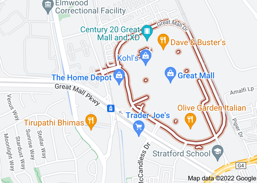 Location of Great Mall Drive