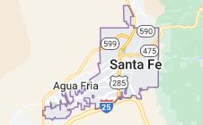 Map of Santa Fe, New Mexico