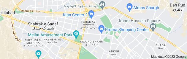 Map of بلوار سجاد ، جانباز ، فرامرز