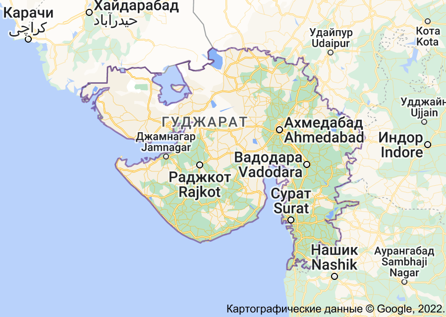 Location of Гуджарат
