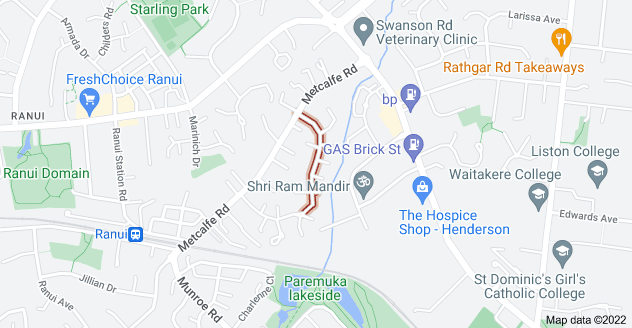 Location of Riserra Drive