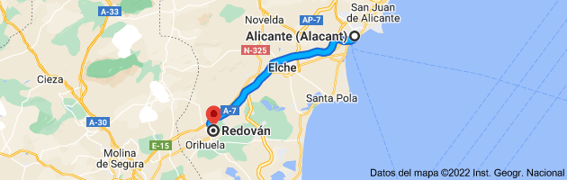 Mapa de Alicante (Alacant), Alicante a Redován, 03370, Alicante
