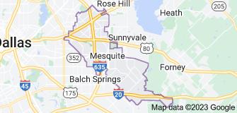 Map of Mesquite, Texas