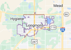 Map of Longmont, Colorado