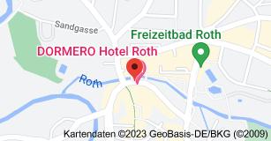 Karte von DORMERO Hotel Roth