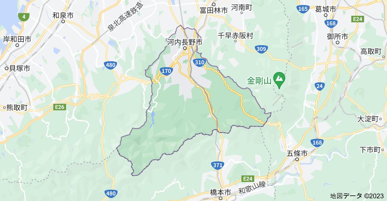 大阪府河内長野市の地図