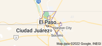 Map of El Paso, Texas