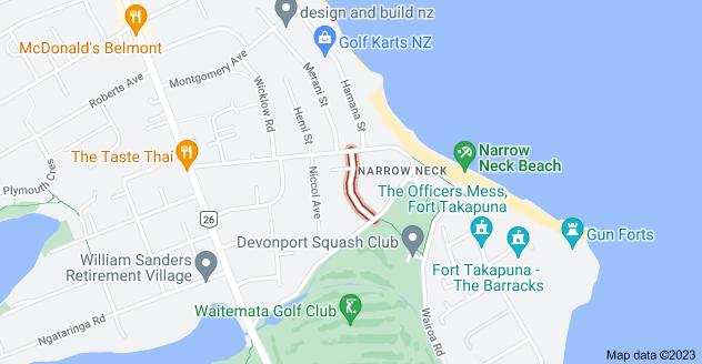 Location of Handley Avenue