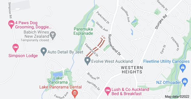 Location of Chesterton Terrace